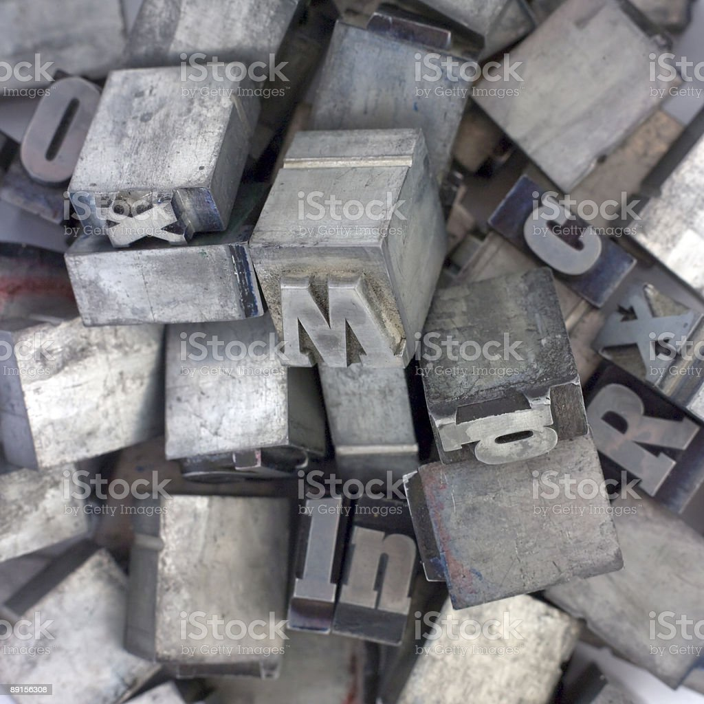 Block letters royalty-free stock photo