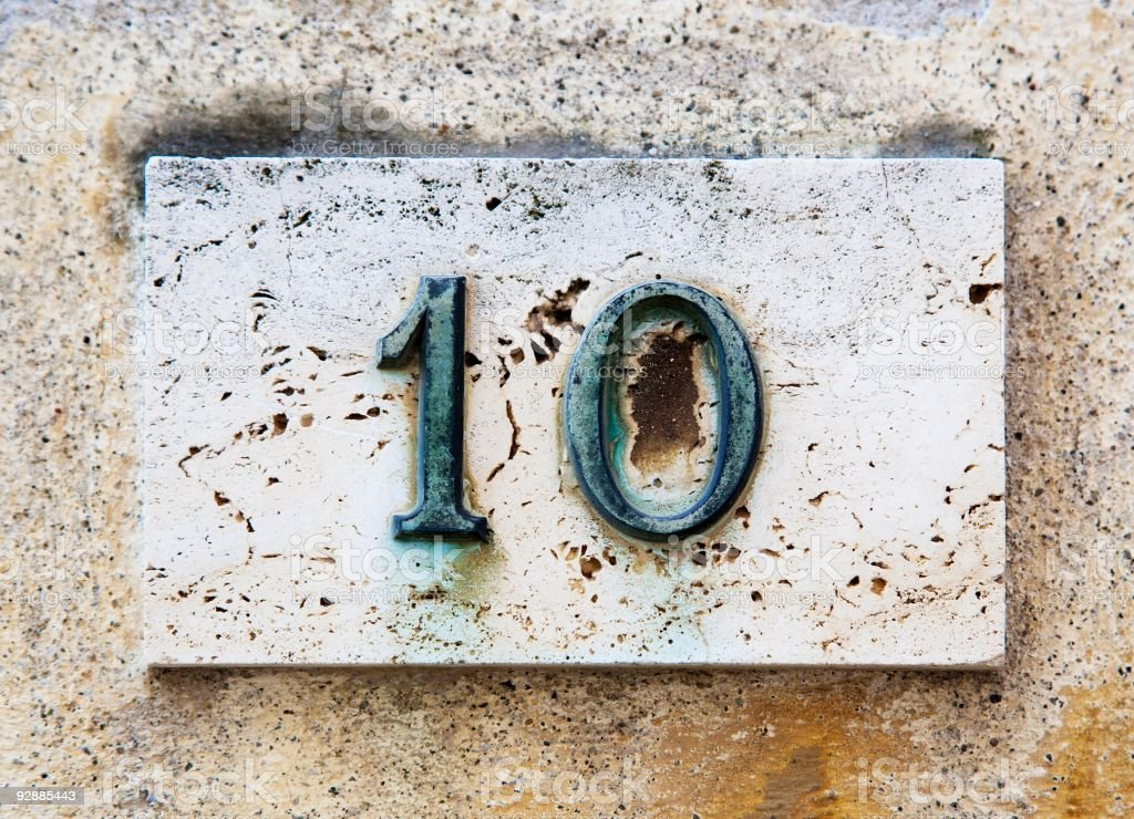 Block number on a wall royalty-free stock photo