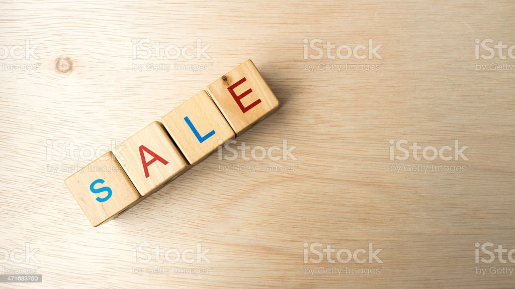 Block of alphabet letters forming marketing-related words stock photo