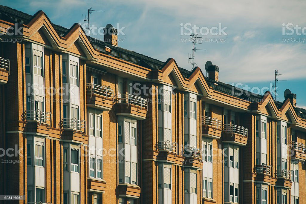 Block of apartments stock photo