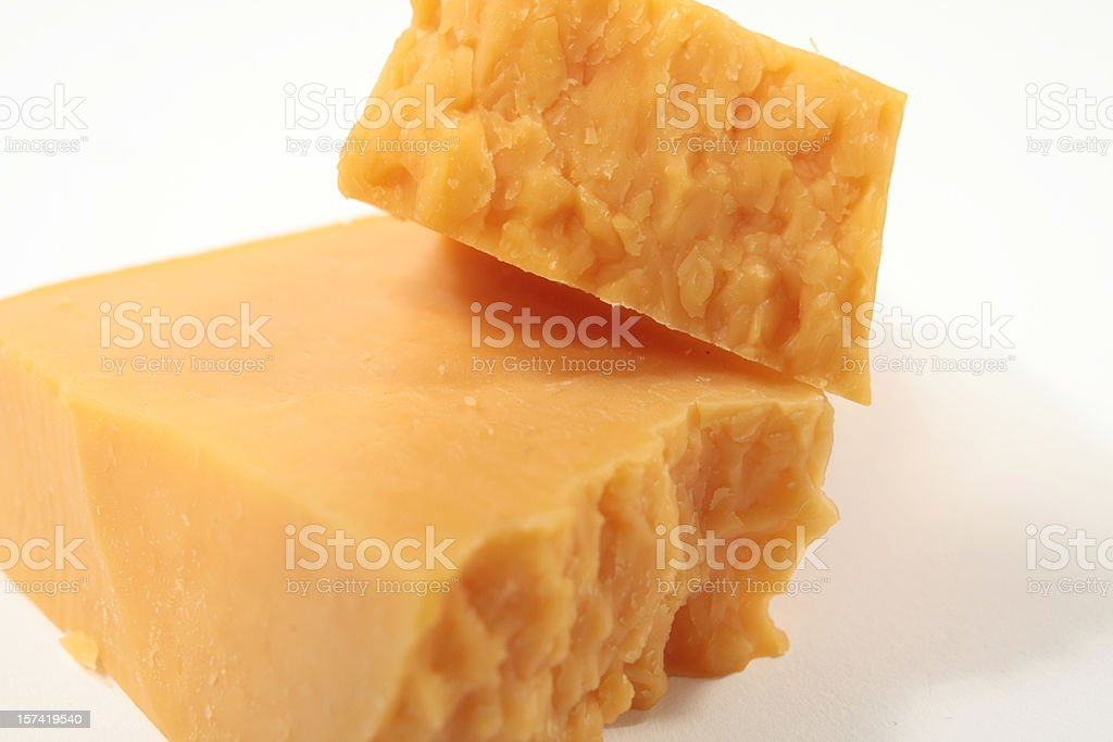 Block of Cheddar stock photo