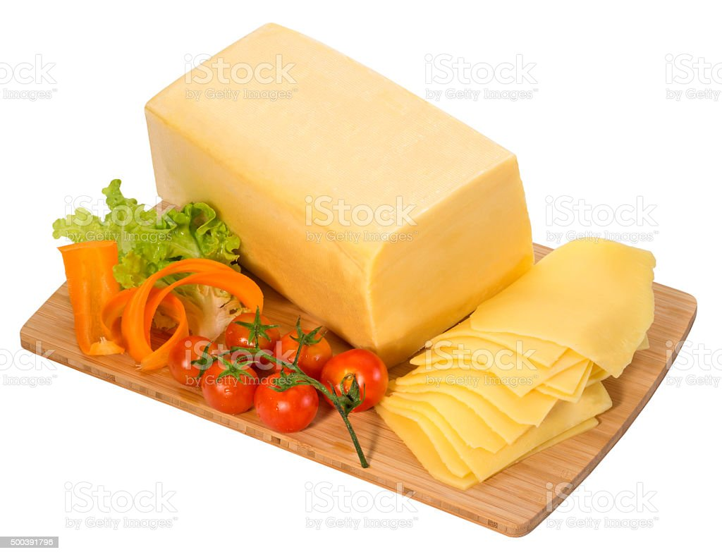 Block of cheese stock photo