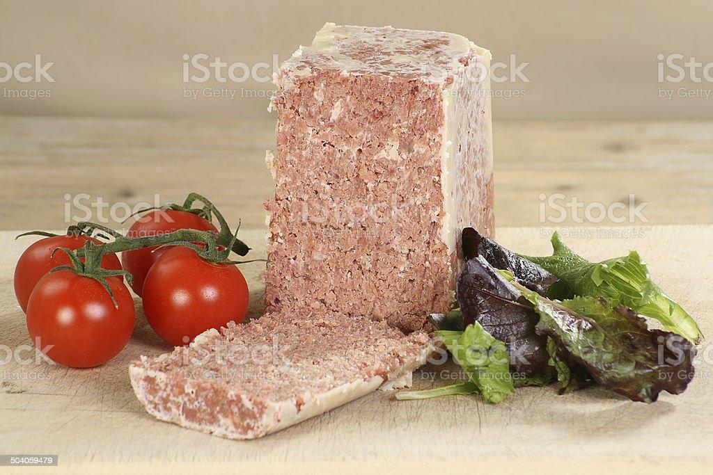 Block of corned beef royalty-free stock photo