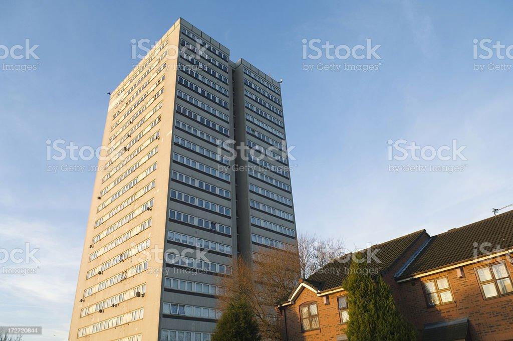 Block of flats in Aston Birmingham UK royalty-free stock photo