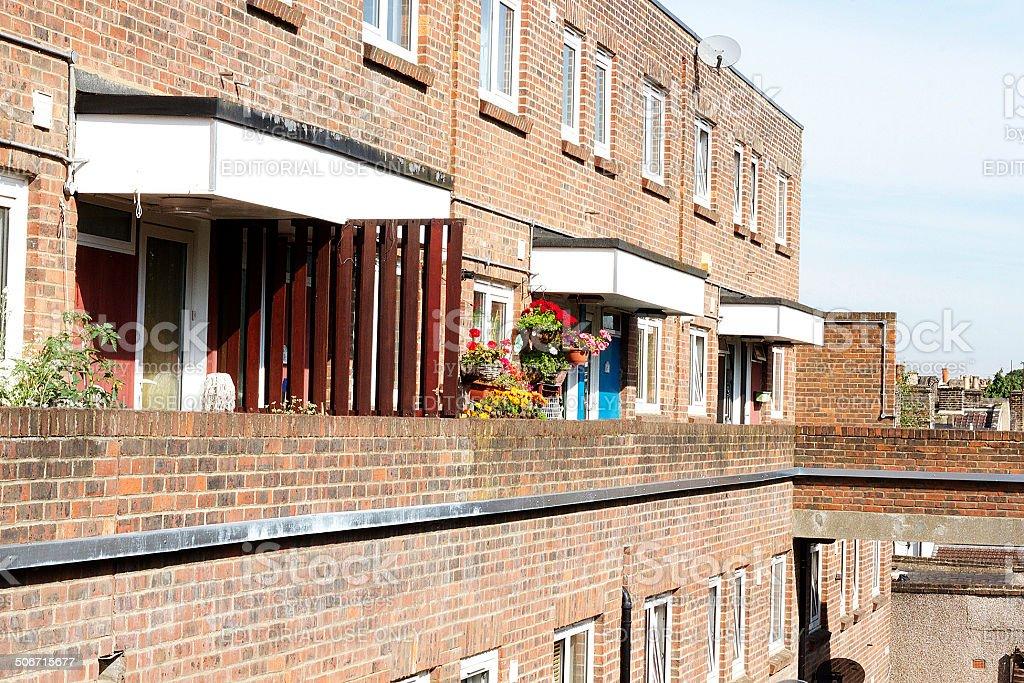 Blocco di appartamenti nell'est di Londra foto stock royalty-free