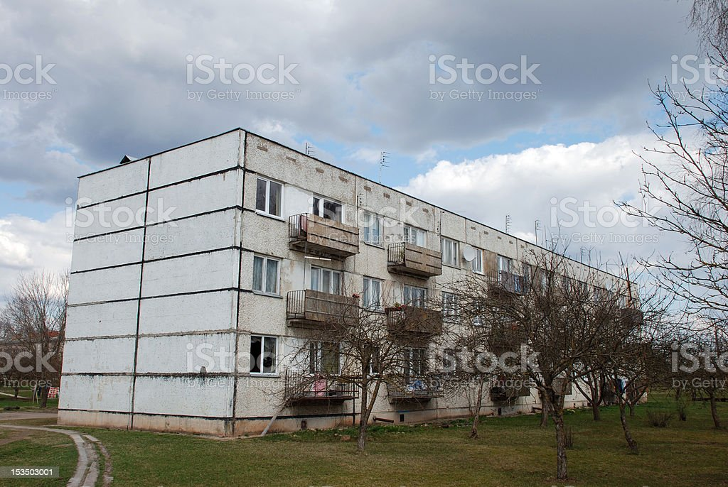 Block Of Flats royalty-free stock photo