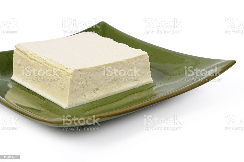 Block of fresh Tofu royalty-free stock photo