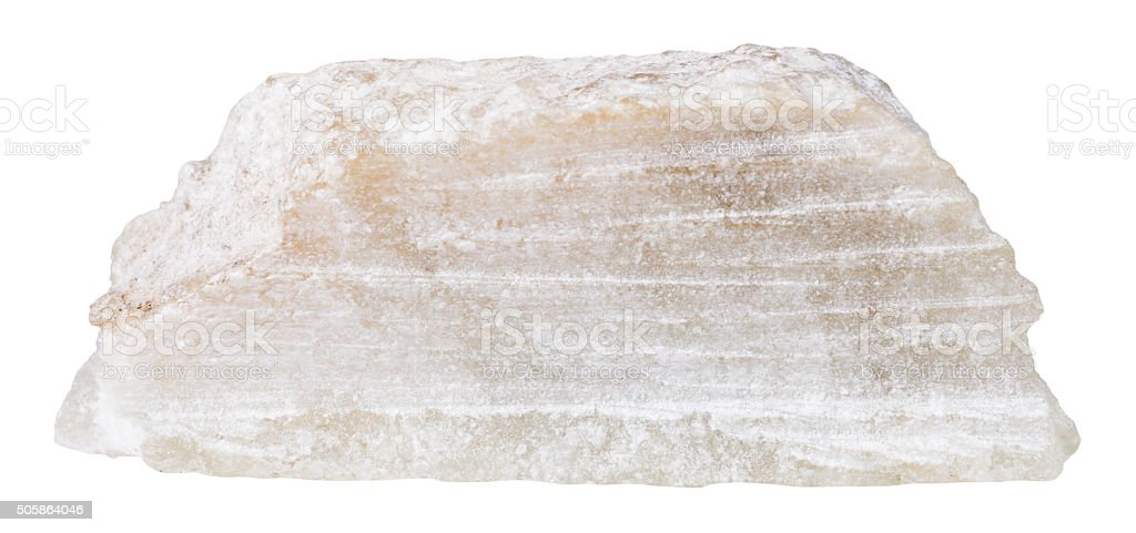 block of talc mineral stone isolated stock photo