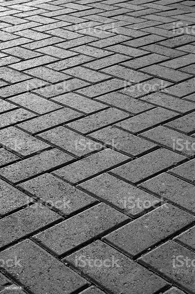 Block paving B&W royalty-free stock photo