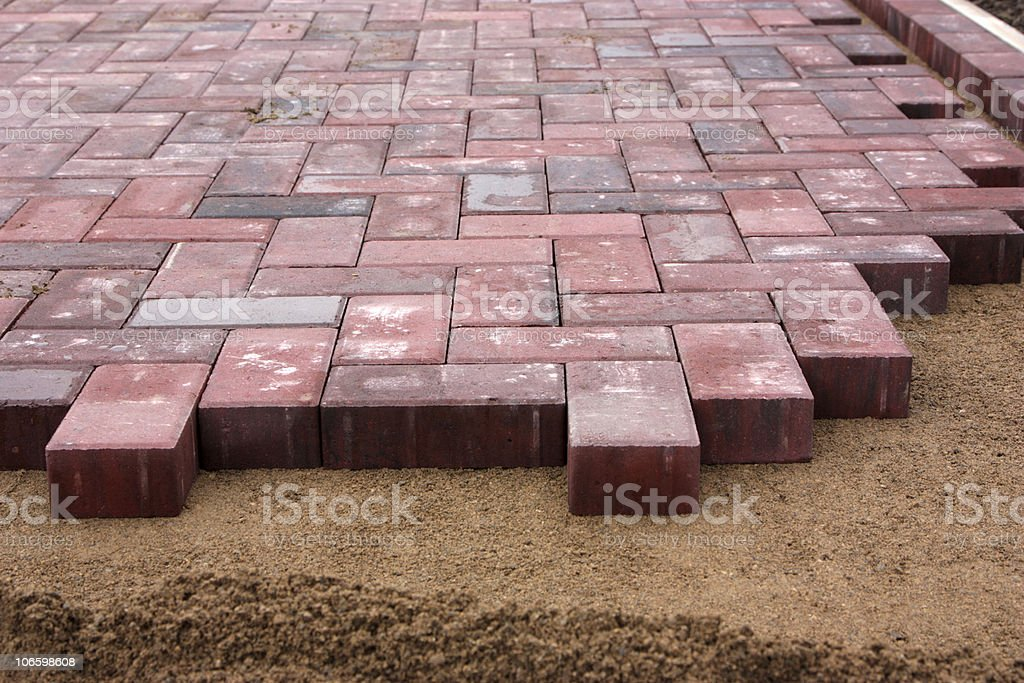 block paving royalty-free stock photo