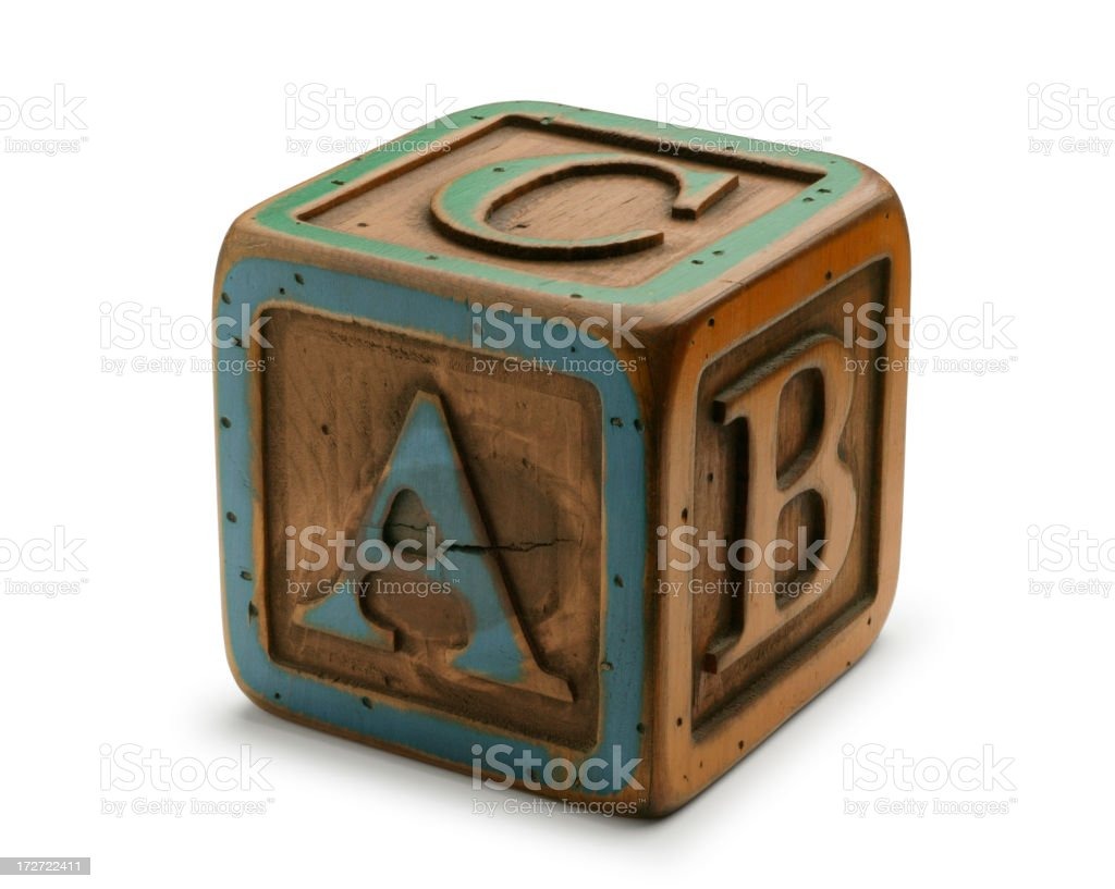 ABC Block stock photo