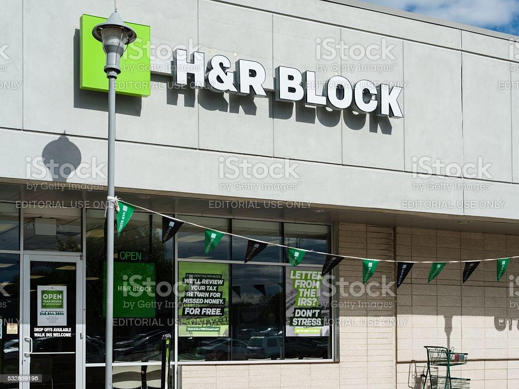 H & R Block stock photo