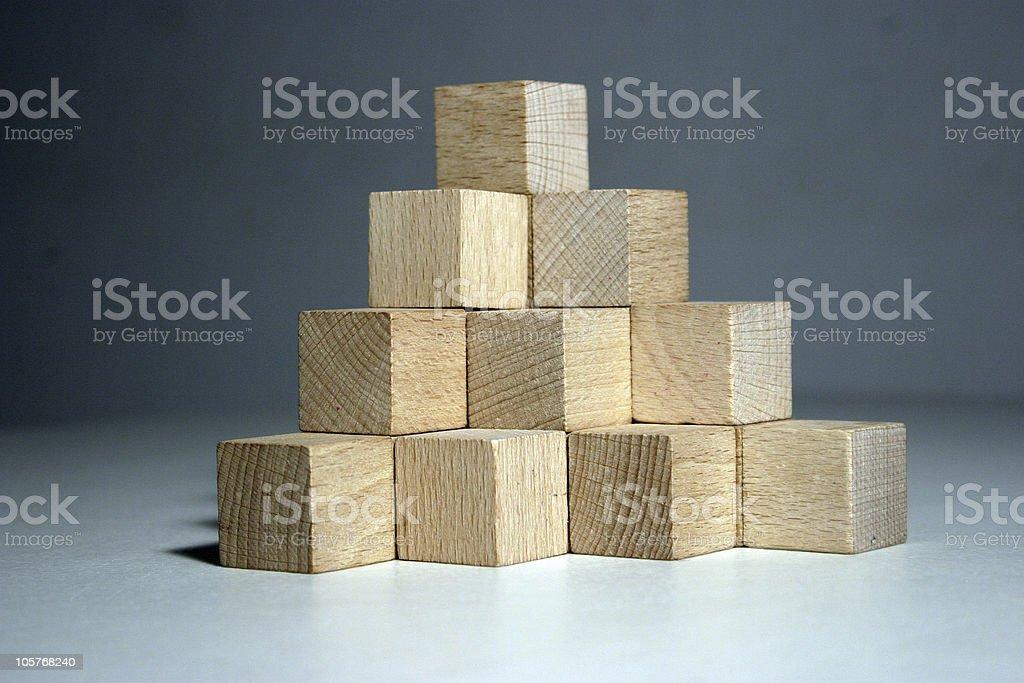 Block pyramid royalty-free stock photo