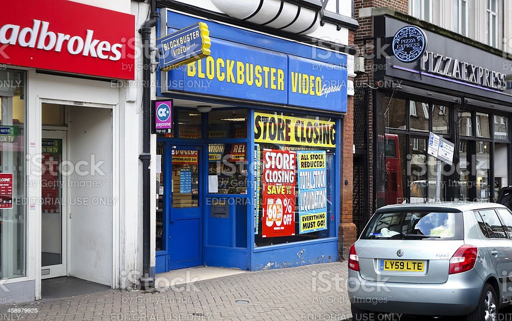 Blockbuster Video - store closing royalty-free stock photo