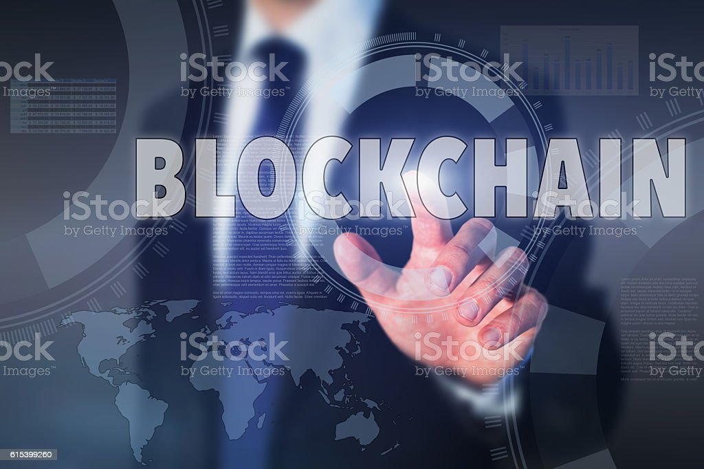 blockchain concept stock photo
