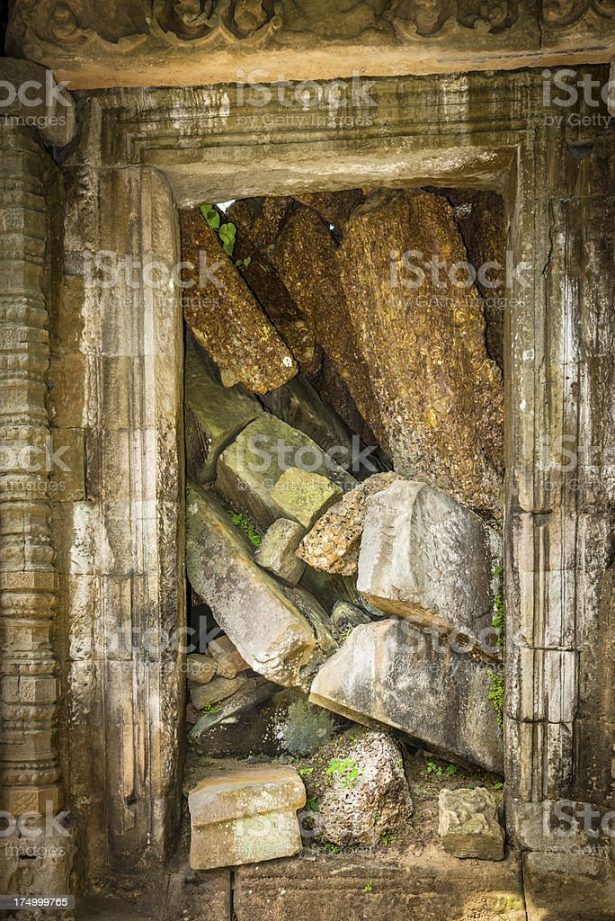 blocked door, Angkor Wat, Cambodian Temple royalty-free stock photo