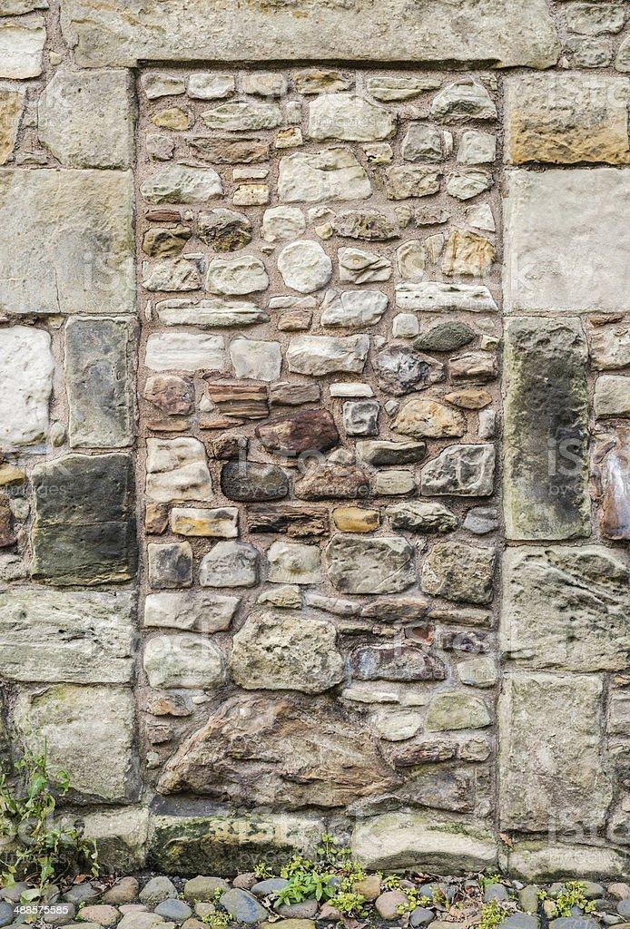 Blocked up Stone Doorway stock photo
