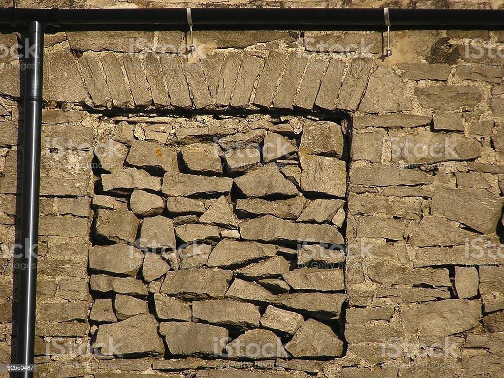 Blocked window stock photo