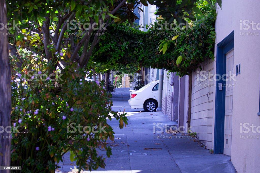 Blocking Sidewalk stock photo