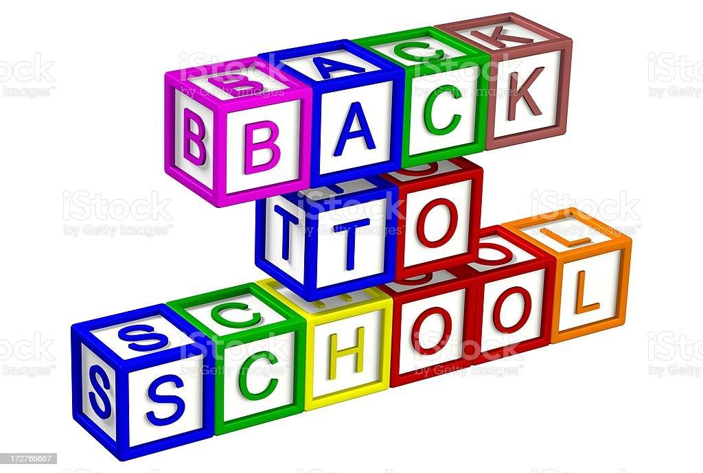 ABC Blocks - Back to School stock photo