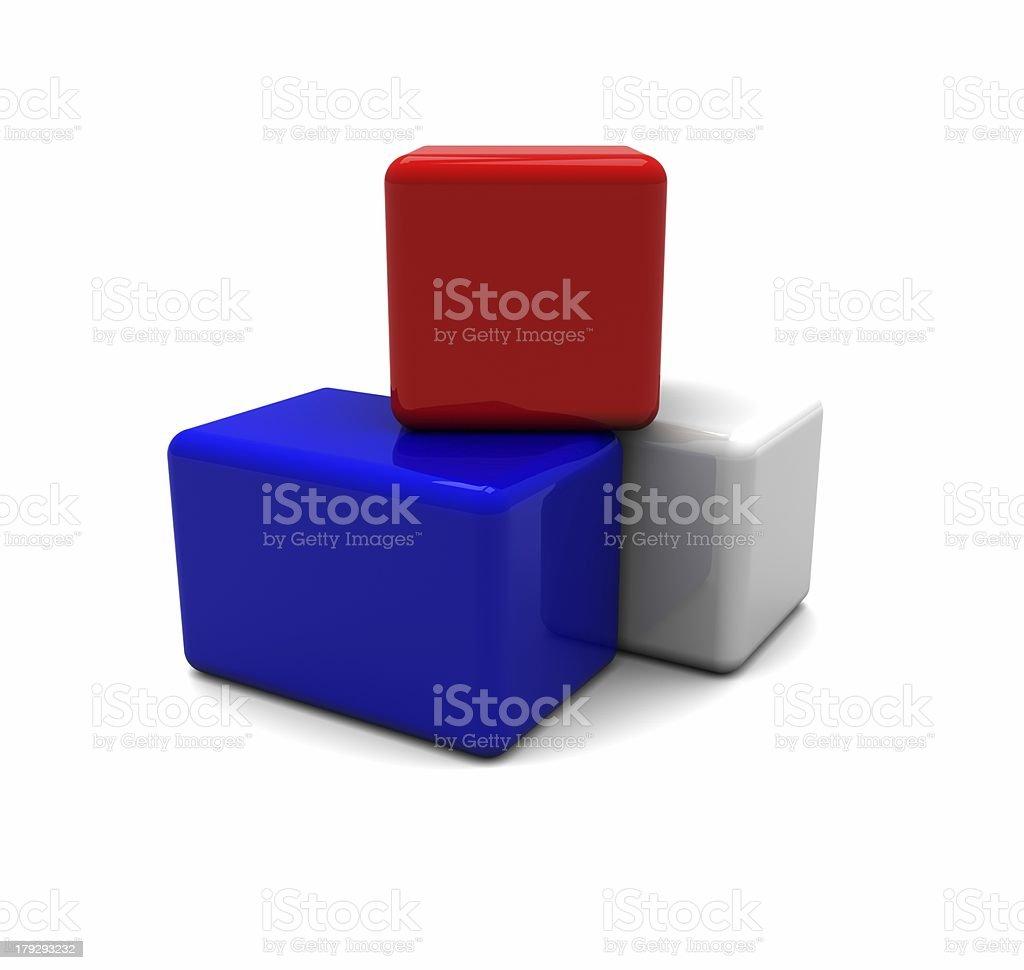 Blocks / cubes royalty-free stock photo
