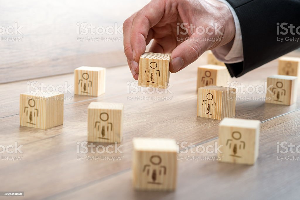 Blocks for Customer-Managed Relationship Concept stock photo