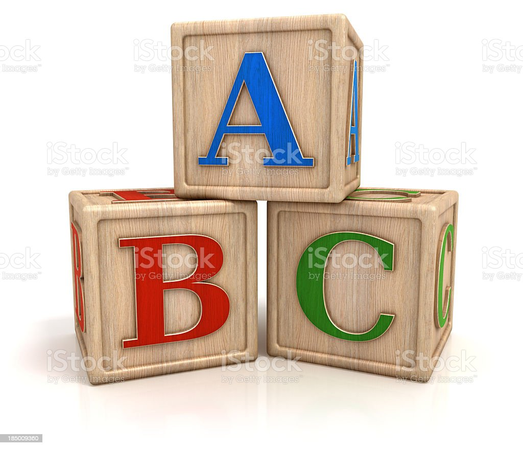 ABC blocks isolated with clipping path stock photo