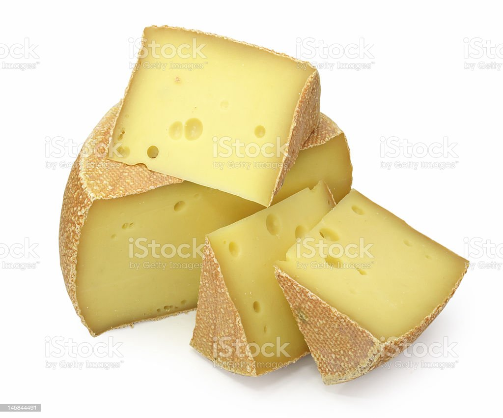 Blocks of cheese on white background royalty-free stock photo