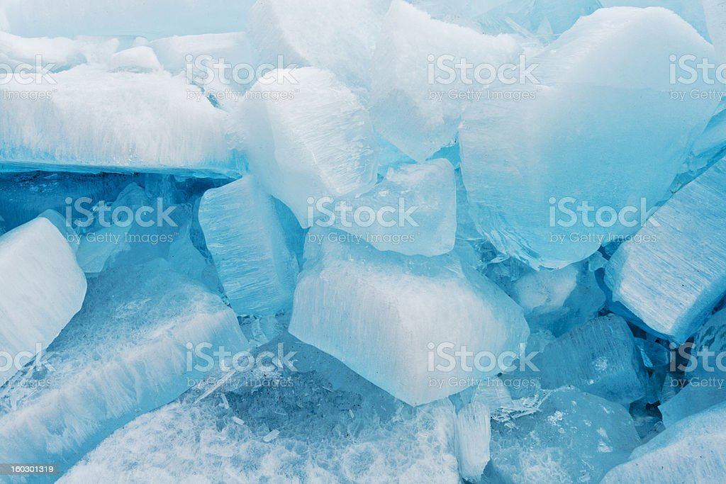 Blocks of pure ice in sunlight for background royalty-free stock photo