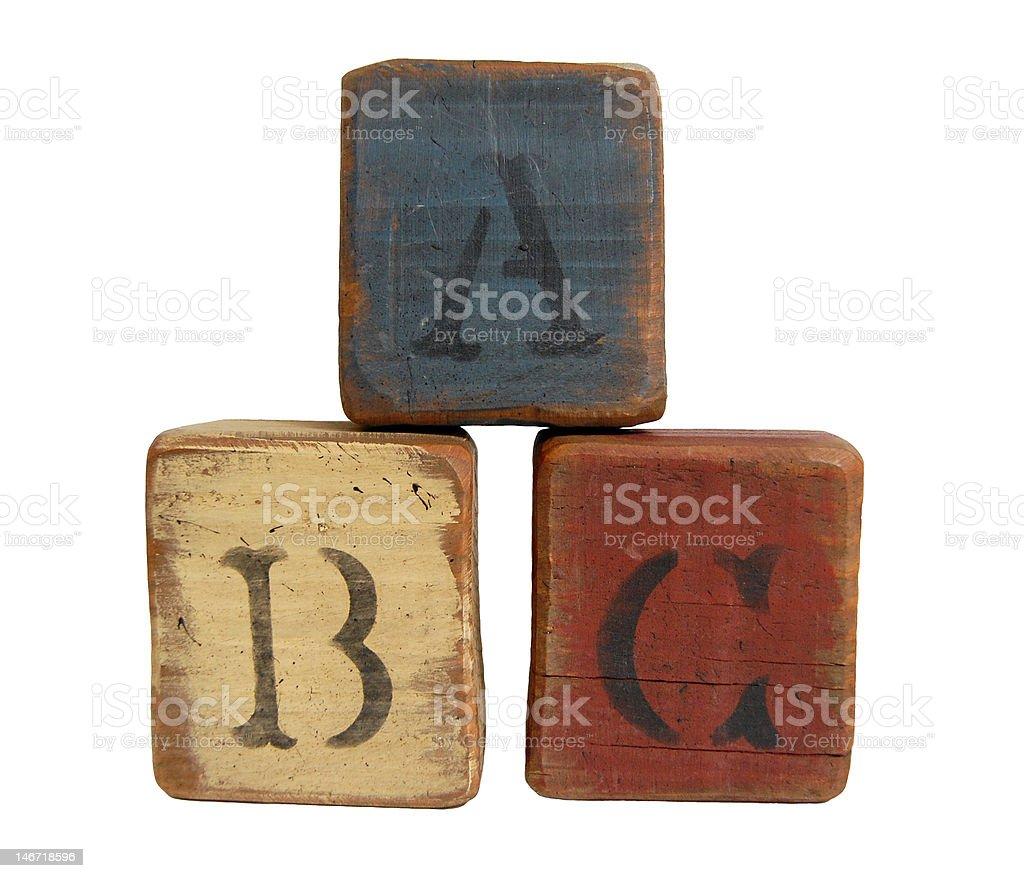 ABC-Blöcke Lizenzfreies stock-foto