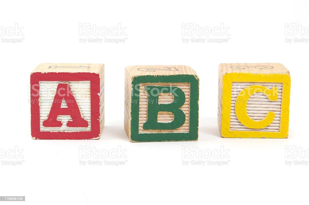 ABC Blocks royalty-free stock photo