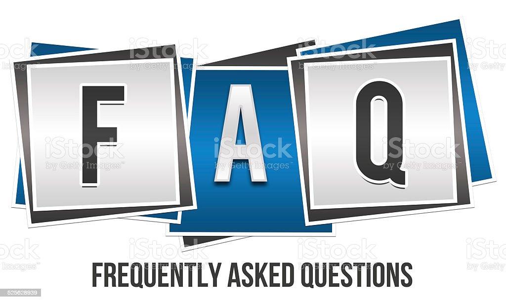 FAQ 3 Blocks stock photo