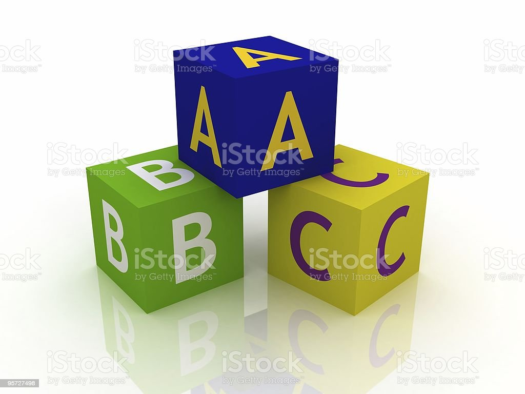ABC Blocks royalty-free stock photo