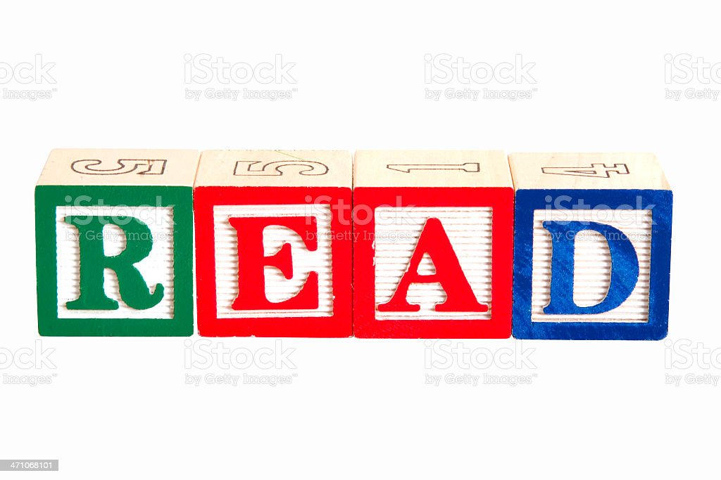 Blocks - Read w-clipping path royalty-free stock photo