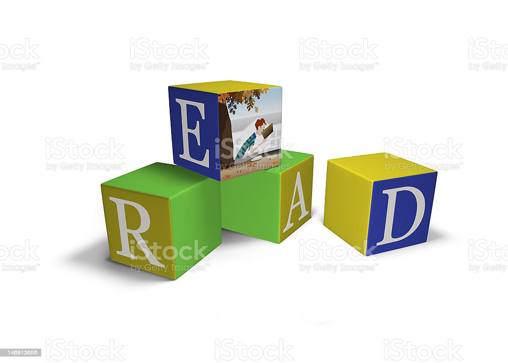 Blocks that spell READ royalty-free stock photo