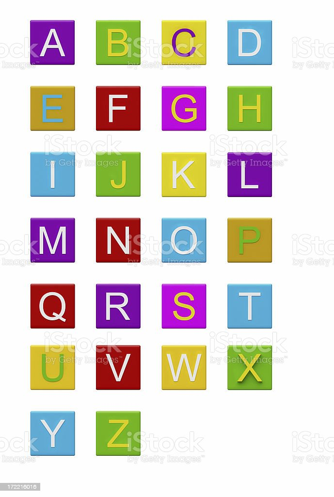 Blocks with letters [ ll ] / XXL royalty-free stock photo