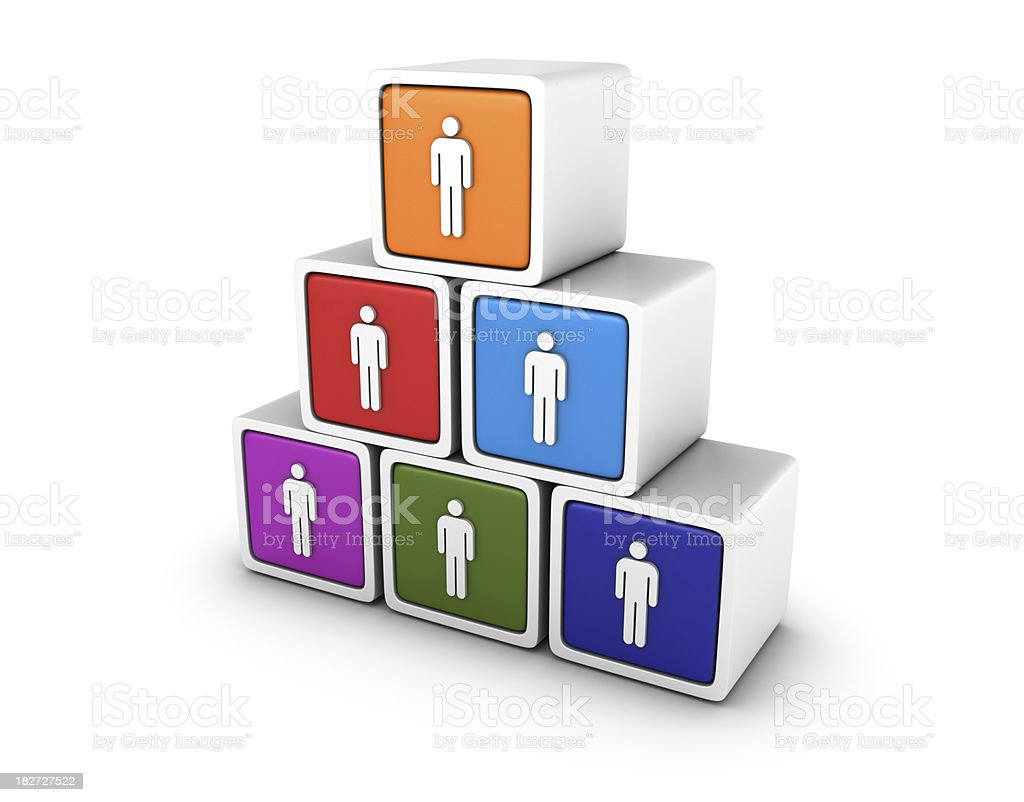 Blocks with People royalty-free stock photo