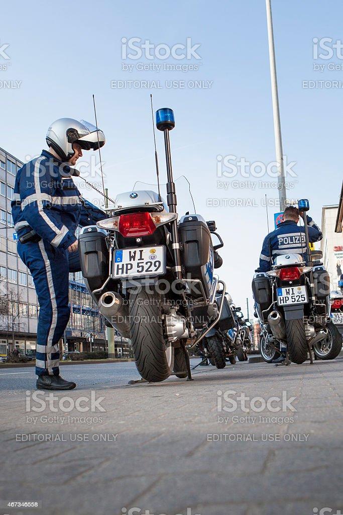 Blockupy 2015 - Frankfurt, Germany stock photo