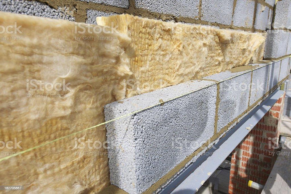 Blockwork Wall Construction royalty-free stock photo