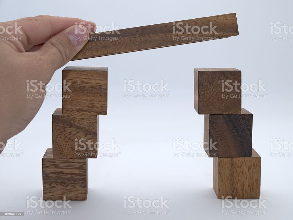 Blocky Bridge royalty-free stock photo