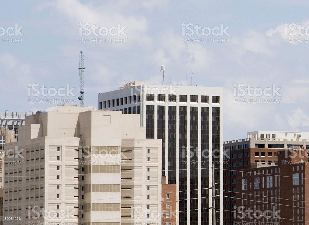 Blocky Buildings stock photo
