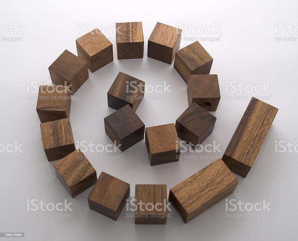 Blocky spiral stock photo