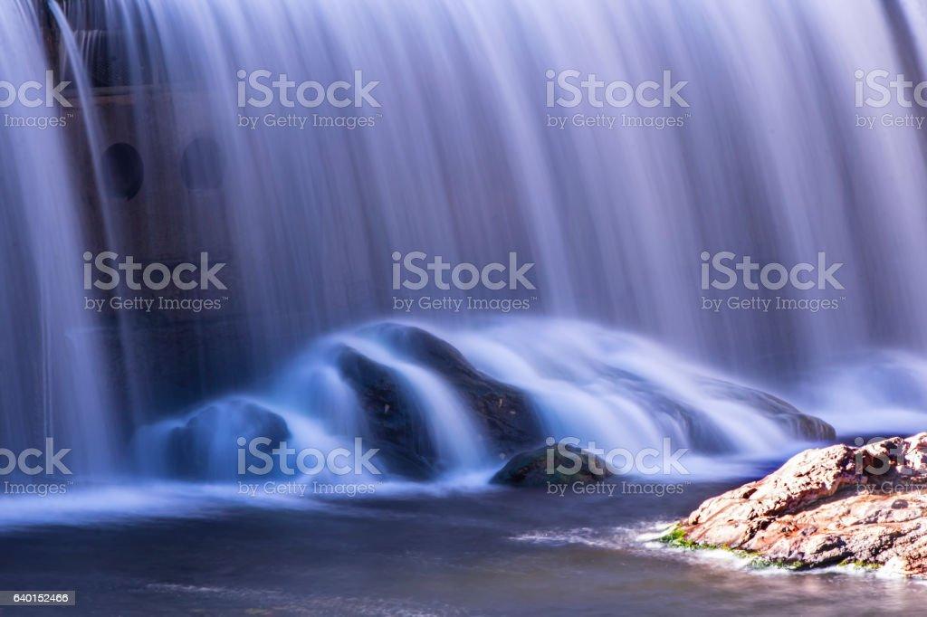 Bloede dam spillway time exposure stock photo