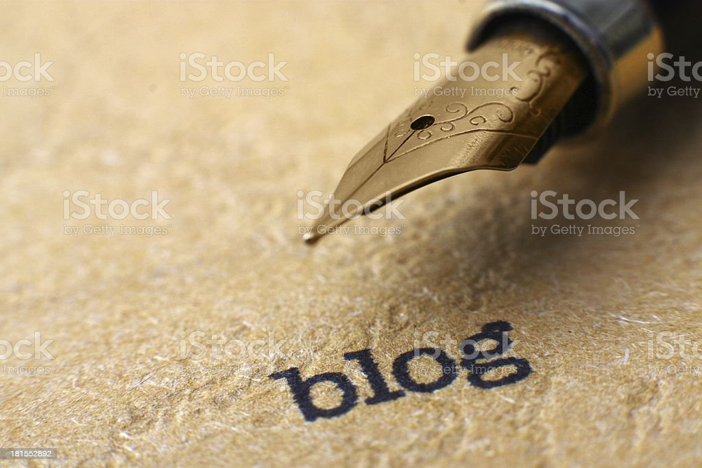Blog and pen royalty-free stock photo