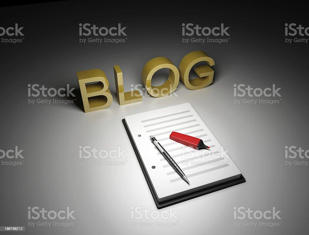 blog author stock photo