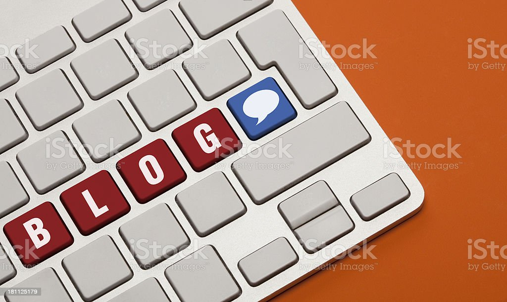 Blog Concept on Keyboard royalty-free stock photo