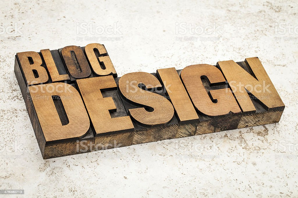 blog design in wood type royalty-free stock photo