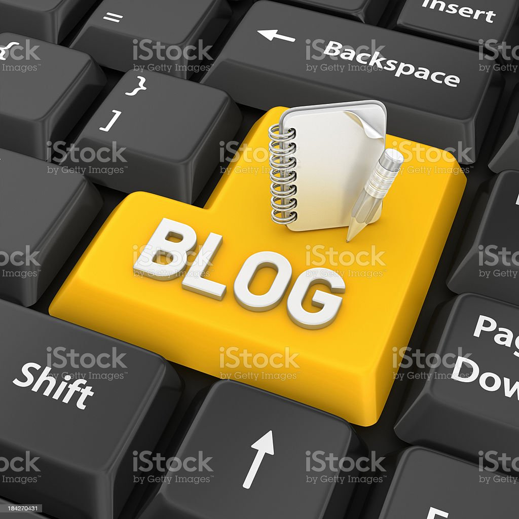 blog enter key royalty-free stock photo