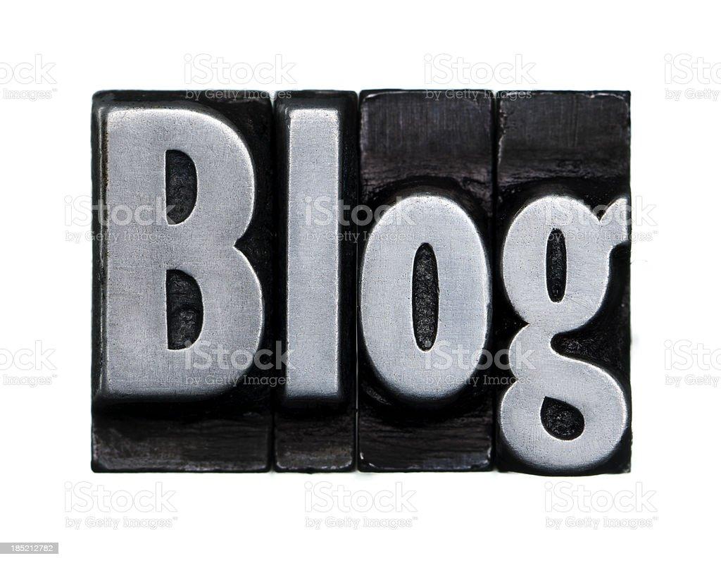 Blog - Letterpress letter royalty-free stock photo
