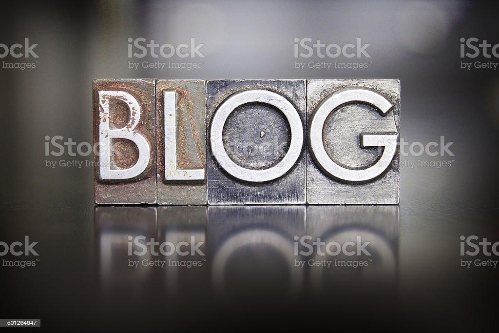 Blog Letterpress Type stock photo